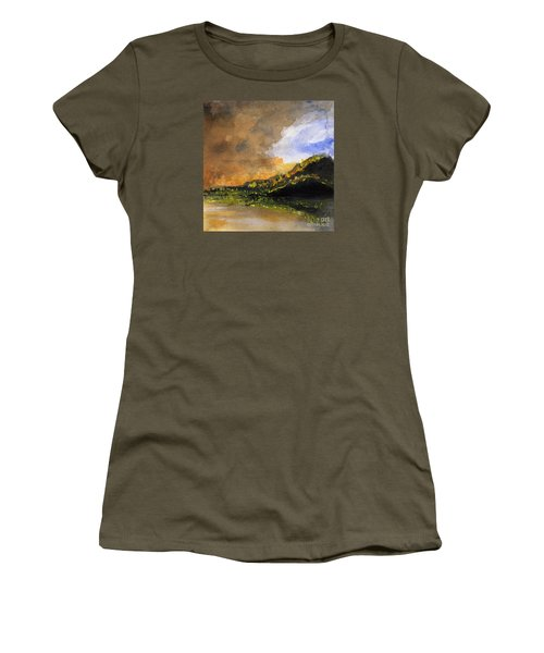 Bad Night Coming Cross The Bay Women's T-Shirt (Junior Cut) by Randy Sprout