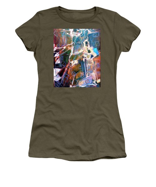 Women's T-Shirt (Junior Cut) featuring the painting Badlands 1 by Dominic Piperata