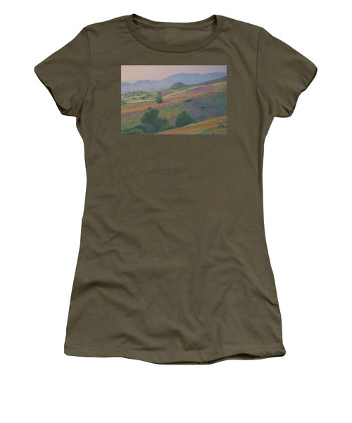 Women's T-Shirt featuring the pastel Badlands In July by Cris Fulton