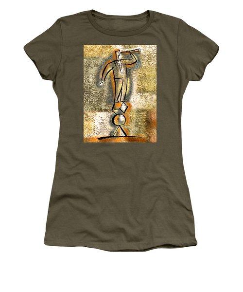 Women's T-Shirt (Junior Cut) featuring the painting Balance by Leon Zernitsky