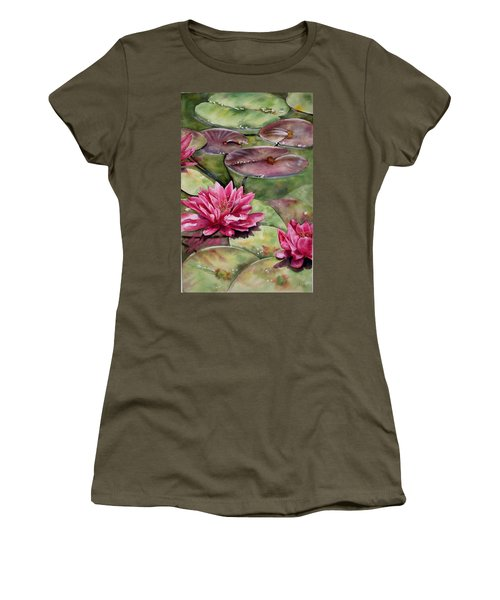 Balboa Water Lilies Women's T-Shirt (Athletic Fit)