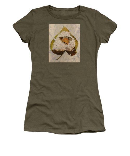 Bald Eagle Front View Women's T-Shirt (Athletic Fit)