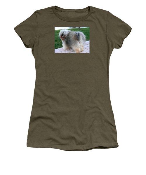 ball of fur Havanese dog Women's T-Shirt (Junior Cut) by Sally Weigand