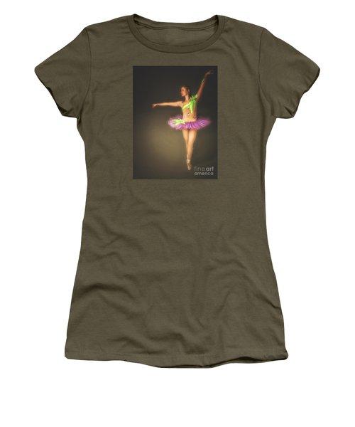Women's T-Shirt (Junior Cut) featuring the photograph Ballerina  ... by Chuck Caramella