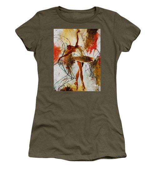 Ballerina Dance Original Painting 01 Women's T-Shirt (Junior Cut) by Gull G