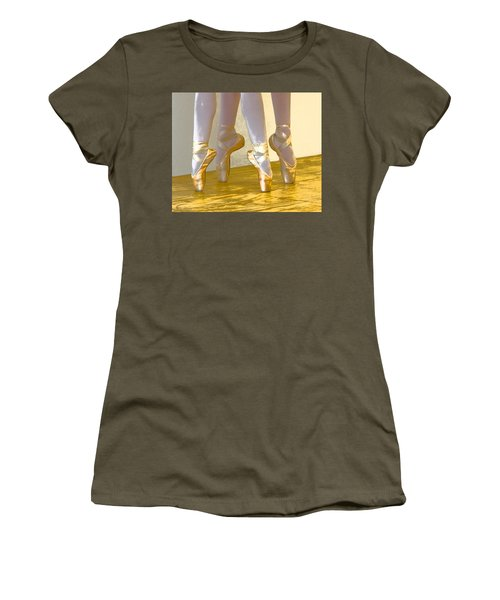 Ballet Second Position In Gold Women's T-Shirt