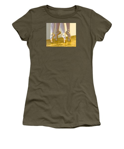 Ballet Second Position In Gold Women's T-Shirt