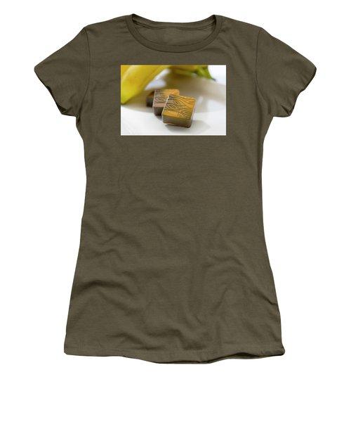 Banana Chocolate Women's T-Shirt (Junior Cut) by Sabine Edrissi