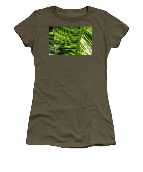 Women's T-Shirt (Athletic Fit) featuring the photograph Banana Leaf Structure by Brad Allen Fine Art