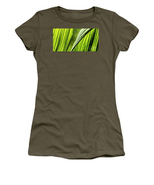 Women's T-Shirt (Athletic Fit) featuring the photograph Banana Leaves Iv by Brad Allen Fine Art