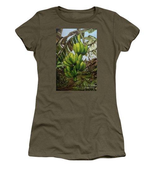 Banana Tree Women's T-Shirt (Athletic Fit)