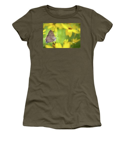 Banded Hairstreak On Coreopsis Women's T-Shirt