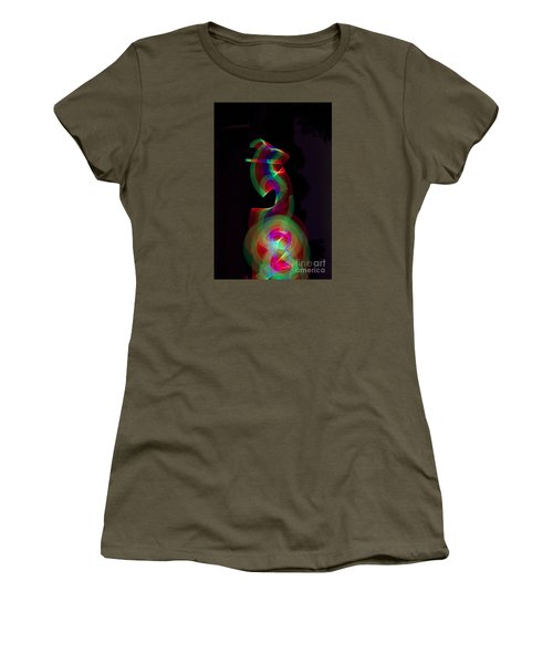 Women's T-Shirt (Junior Cut) featuring the photograph Banished By Light by Xn Tyler