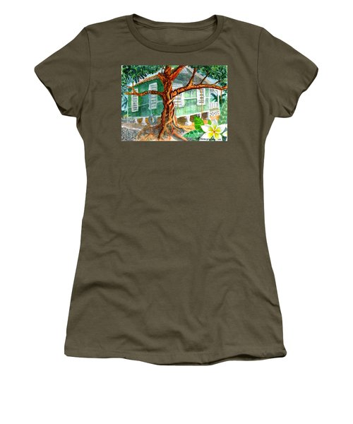 Banyan In The Backyard Women's T-Shirt (Athletic Fit)