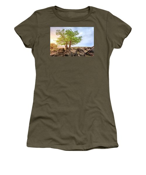Women's T-Shirt (Junior Cut) featuring the photograph Baobab Tree by Alexey Stiop