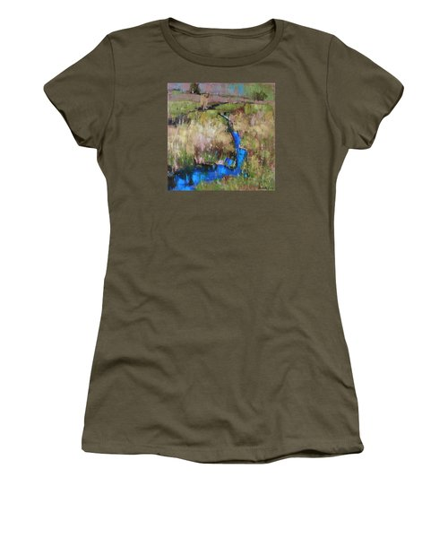 Barefoot In The Dew  Women's T-Shirt (Athletic Fit)