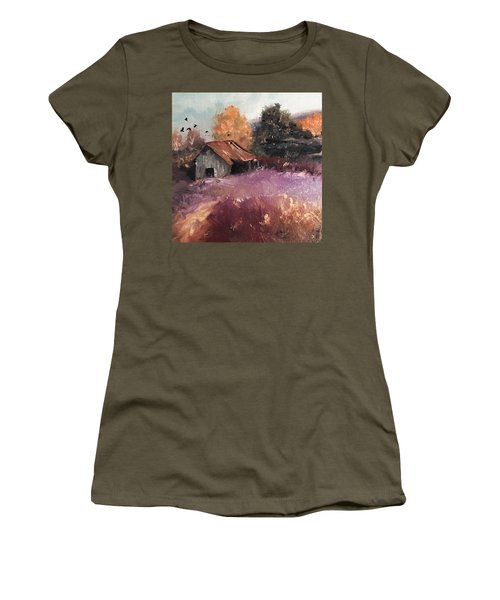 Barn And Birds  Women's T-Shirt (Athletic Fit)