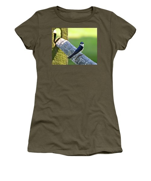 Barn Swallow Looking Angry Women's T-Shirt (Athletic Fit)