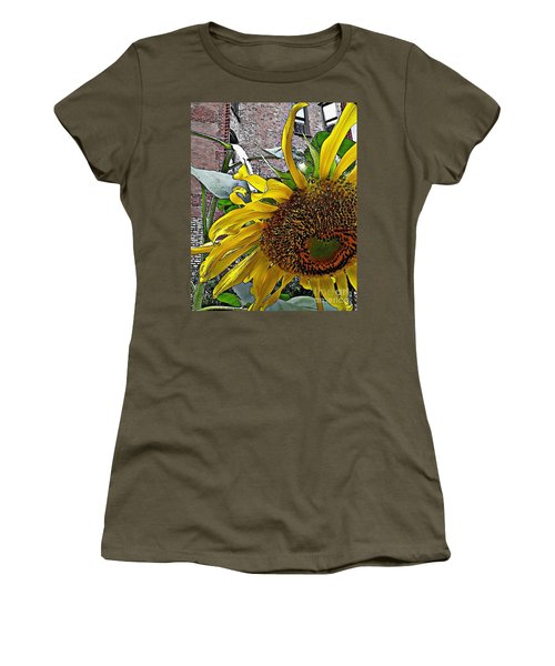 Barrio Sunflower 3 Women's T-Shirt (Athletic Fit)