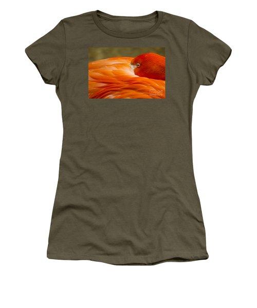 Bashful Flamingo Women's T-Shirt (Athletic Fit)