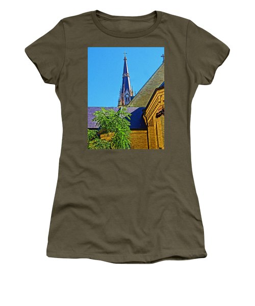 Basilica Of The Sacred Heart Notre Dame Women's T-Shirt (Junior Cut) by Dan Sproul