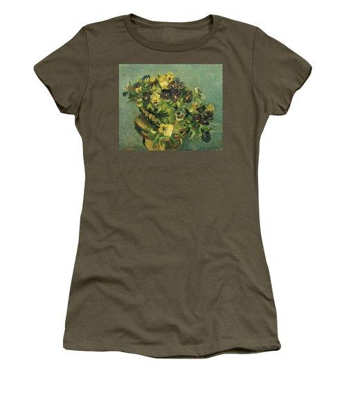 Basket Of Pansies Women's T-Shirt