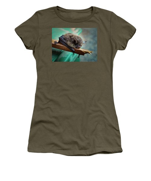 Women's T-Shirt (Athletic Fit) featuring the photograph Bat Rehoused by Jean Noren