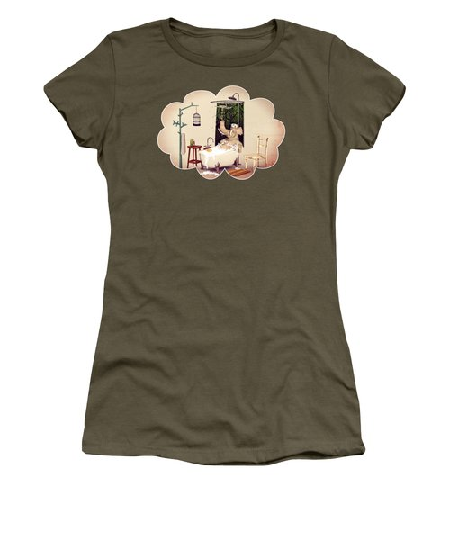 Bath Time Women's T-Shirt (Junior Cut) by Methune Hively