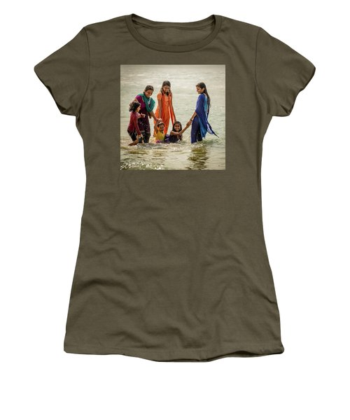 Bathing At Varkala II Women's T-Shirt
