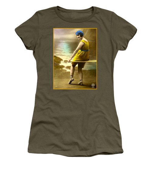 Bathing Beauty In Yellow  Bathing Suit Women's T-Shirt (Athletic Fit)