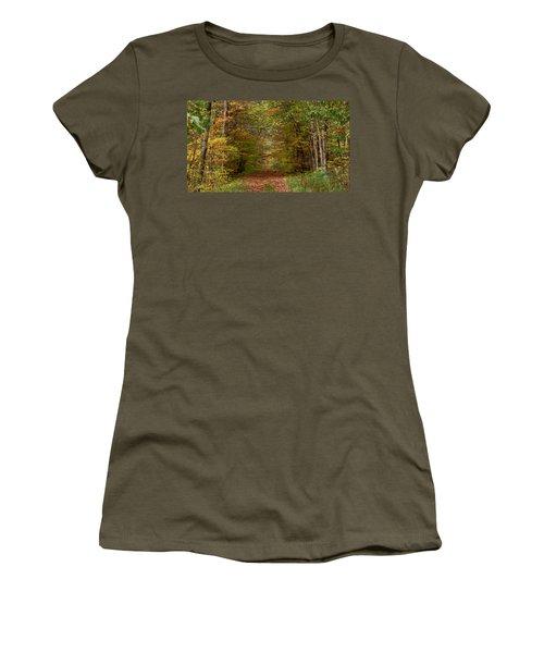 Baxter's Hollow  Women's T-Shirt (Junior Cut) by Kimberly Mackowski