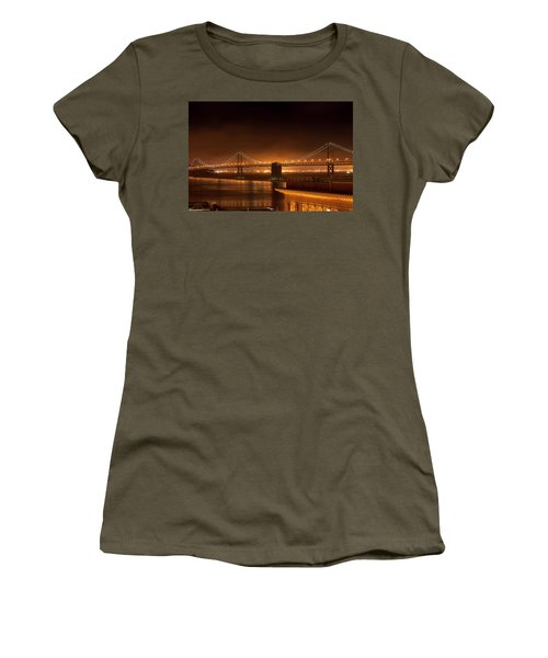 Bay Bridge At Night Women's T-Shirt
