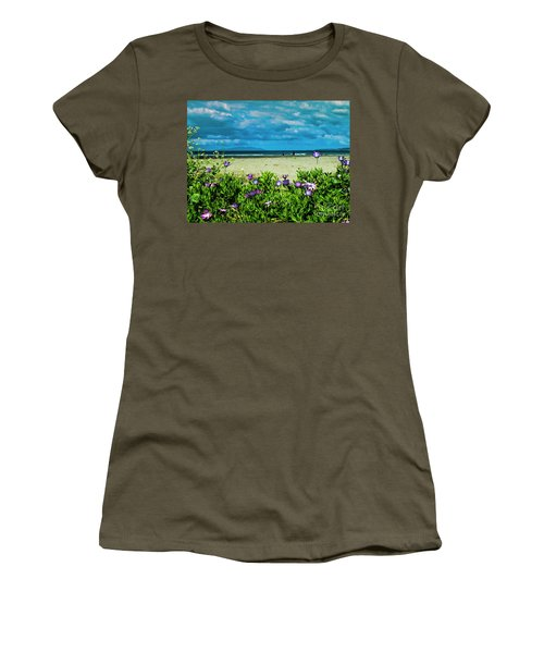Beach Daisies Women's T-Shirt (Junior Cut) by Karen Lewis