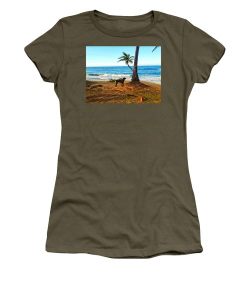 Beach Dog  Women's T-Shirt (Athletic Fit)
