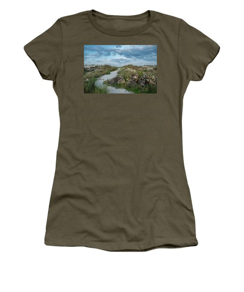 Women's T-Shirt (Junior Cut) featuring the photograph Beach Path by Louis Ferreira