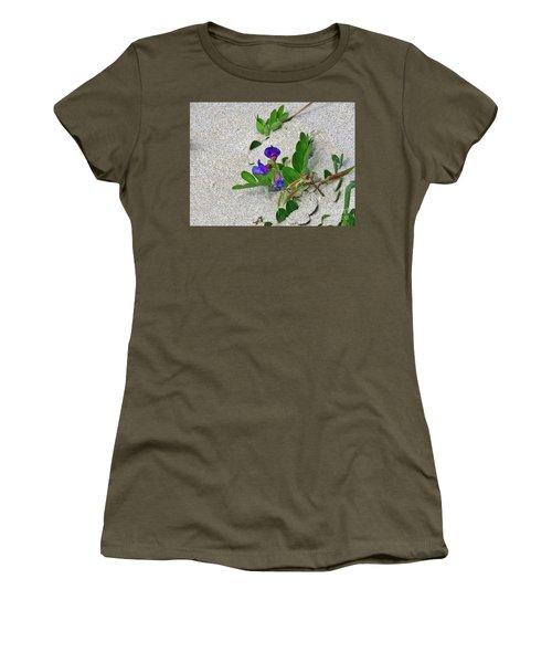 Women's T-Shirt (Junior Cut) featuring the photograph Beach Pea Vine by Michele Penner