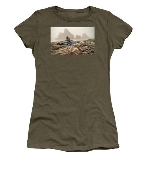 Beach Stack Women's T-Shirt (Junior Cut) by Kristopher Schoenleber