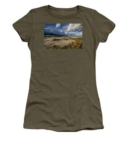 Beach View Rain Clouds  Women's T-Shirt