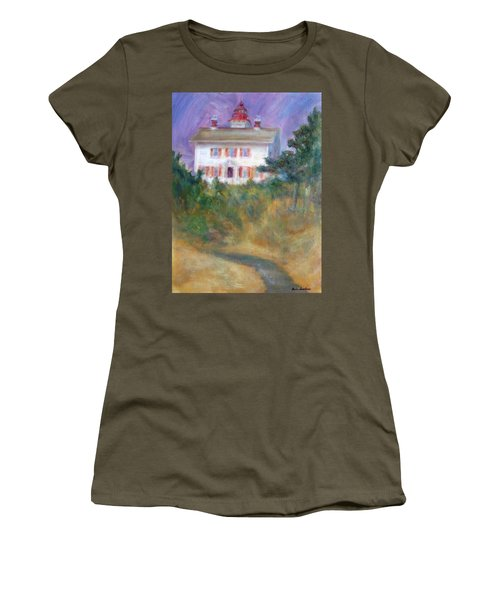 Beacon On The Hill - Lighthouse Painting Women's T-Shirt