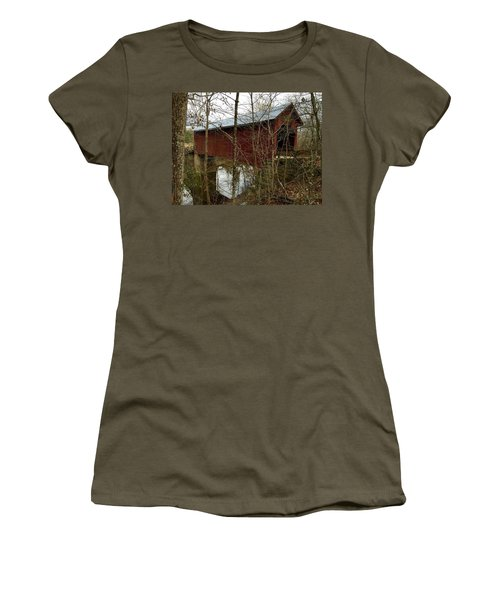 Bean Blossom Bridge Women's T-Shirt (Athletic Fit)