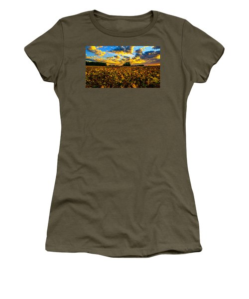 Bean Field Splendor  Women's T-Shirt (Athletic Fit)