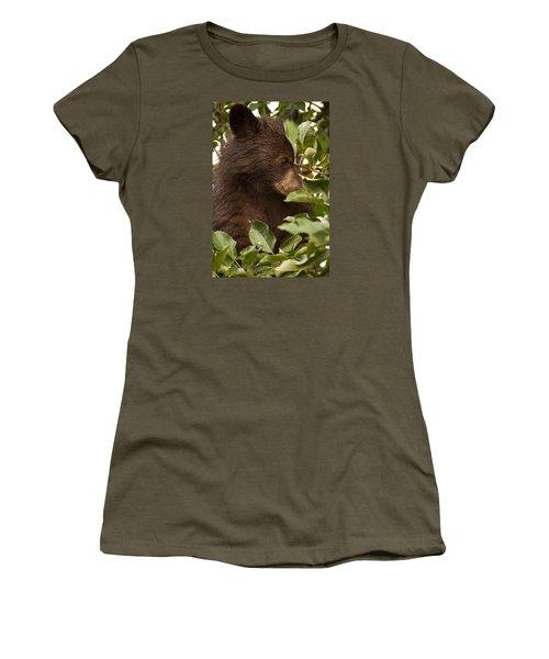 Bear Cub In Apple Tree3 Women's T-Shirt (Junior Cut) by Loni Collins
