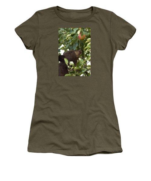 Bear Cub In Apple Tree4 Women's T-Shirt (Junior Cut) by Loni Collins
