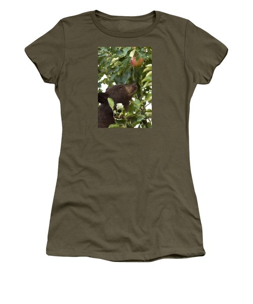 Bear Cub In Apple Tree4 Women's T-Shirt (Athletic Fit)