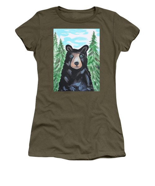 Bear In The Woods Women's T-Shirt