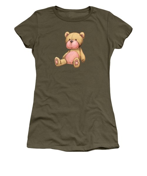 Bear Pink Women's T-Shirt (Junior Cut) by Andy Catling