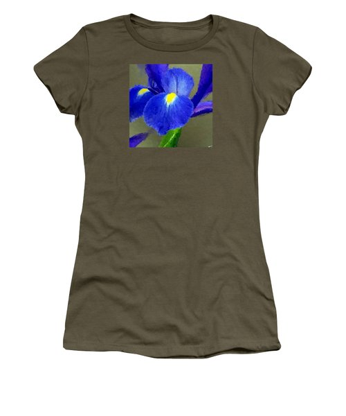 Women's T-Shirt (Junior Cut) featuring the digital art Bearded Iris by Anthony Fishburne