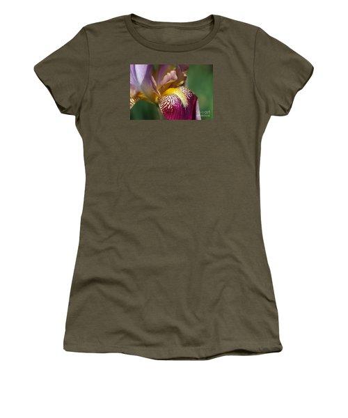 Bearded Iris Flower Mary Todd Women's T-Shirt (Junior Cut) by Joy Watson