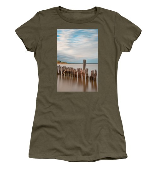 Beautiful Aging Pilings In Keyport Women's T-Shirt (Junior Cut) by Gary Slawsky