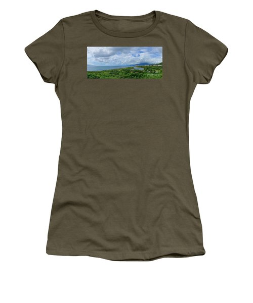 Women's T-Shirt (Athletic Fit) featuring the photograph Beautiful Coastline Of Southern Taiwan by Yali Shi